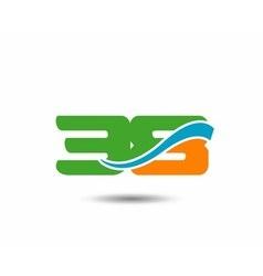 38 anniversary wave logo vector image vector image