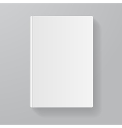 Book white blank flat design vector