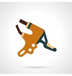 Bike brake lever flat icon vector
