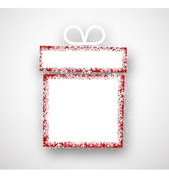 Christmas paper gift vector