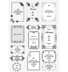 vinatage invitations vector image