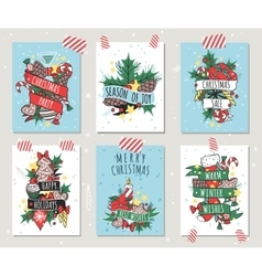 New year greeting card banner isolated vector