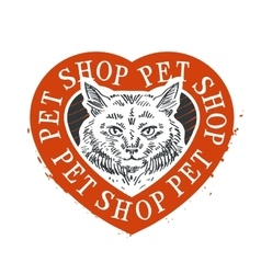 Cat food logo design template pet shop or vector