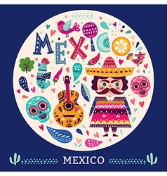 Symbols of mexico vector