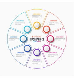 8 parts infographic design circle chart vector image vector image