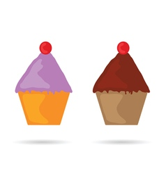 Muffin color vector