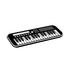 Music synthesizer icon black simple style vector