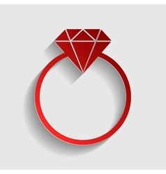 Diamond sign vector