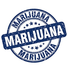 marijuana blue grunge round vintage rubber stamp vector image
