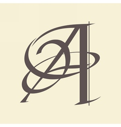 letter A vector image