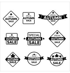 Autumn special sale vintage sticker collection vector