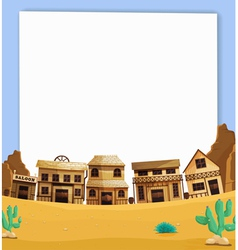 Wild west border vector