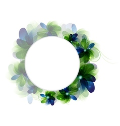Green and blue flowers vector