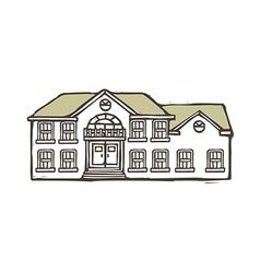 A house is placed vector image