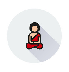 a man meditating in lotus pose icon vector image vector image