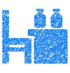Apothecary table grunge icon vector