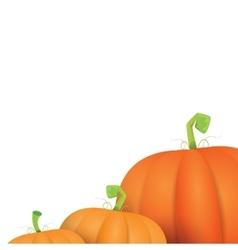 autumn pumpkins border design template vector image vector image