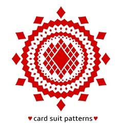 Diamond card suit pattern vector