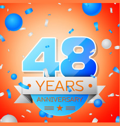 Forty eight years anniversary celebration vector