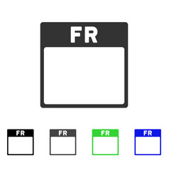friday calendar page flat icon vector image vector image