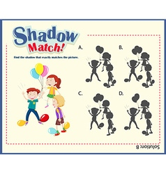 Game template with shadow matching kids vector image vector image