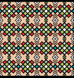 geometric pattern in vitnage colors vector image vector image