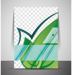 Green Nature Concept Print Template vector image vector image
