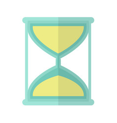 hourglass icon in flat vector image vector image