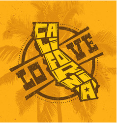 love california creative t-shirt print design on vector image vector image