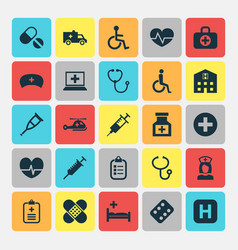Medicine icons set collection of handicapped vector