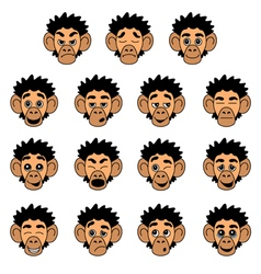 Monkey face expressions vector