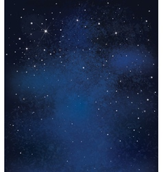 Night sky stars background vector