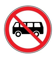no bus sign vector image vector image