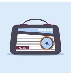 Radio retro style vector