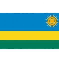 rwanda flag vector image vector image