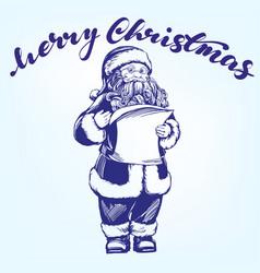 santa claus hand drawn vector image