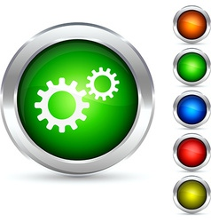 Settings button vector image