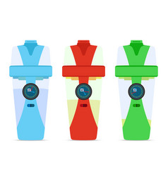 Smart hydrate bottles devices for fitness filter vector