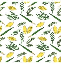 Sukkot seamless pattern background vector image vector image