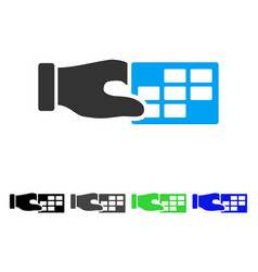 Timetable properties flat icon vector