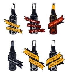 Vintage craft beer vector