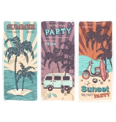 Vintage summer and travel banners vector image vector image