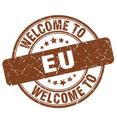 welcome to eu vector image vector image