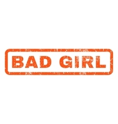 Bad girl rubber stamp vector