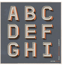 Alphabet retro color vector image