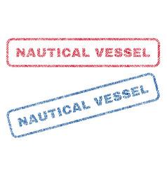 Nautical vessel textile stamps vector