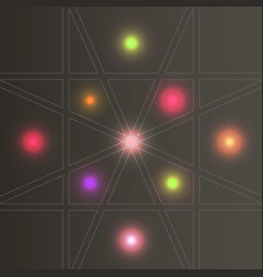 Set abstract color glow light effect vector