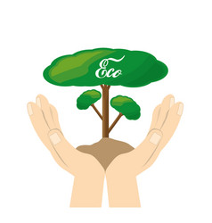 Save the plants for the planet conservation vector
