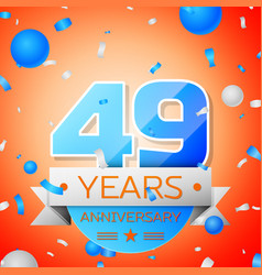 forty nine years anniversary celebration vector image