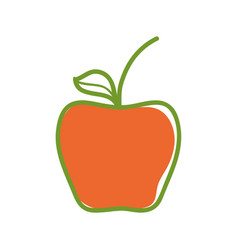 Delicious apple healthy fruit vector